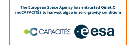 The European Space Agency has entrusted QinetiQ and CAPACITÉS to harvest algae in zero-gravity conditions